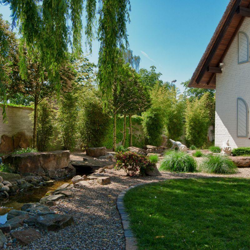 2.9 Ausstrahlung der Elemente - Naturgarten mit Glanzrolle für Stein und Wasser
