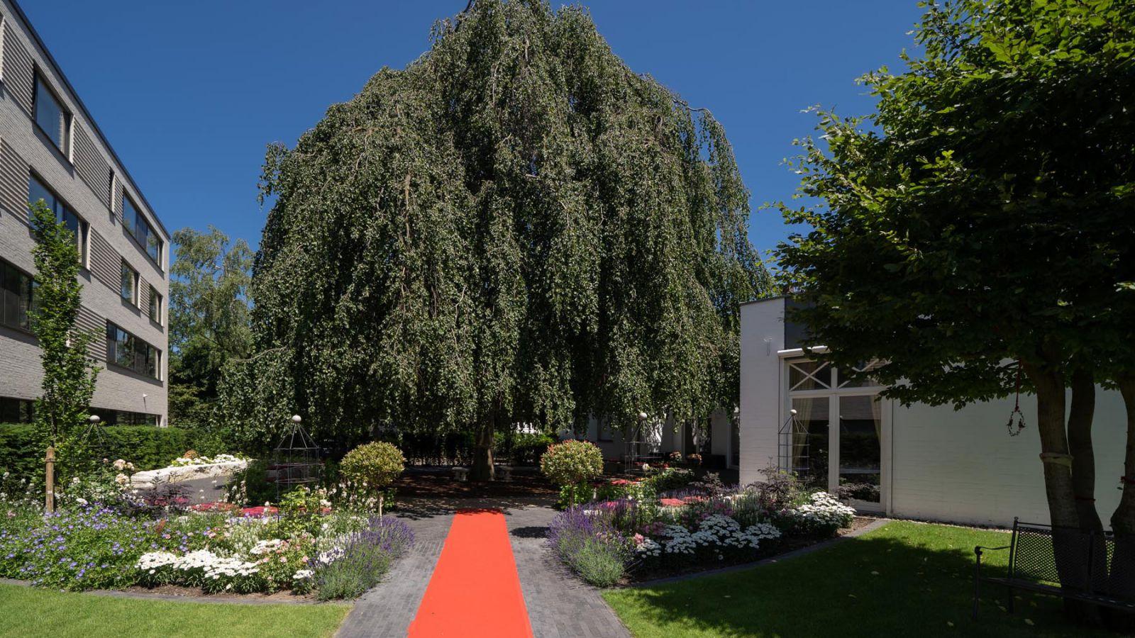 3.2 Romantischer, blumenreicher Hochzeitsgarten des Hotel Residenz in Bocholt